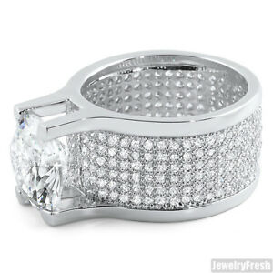 JewelryFresh 360 Silver Ring With 8.5 Carat Lab Made Stone