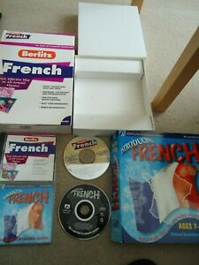 2 CD'S BERLITZ FRENCH  TO ALL ROUND FLUENCY  & INTRODUCTION FRENCH  CD'S