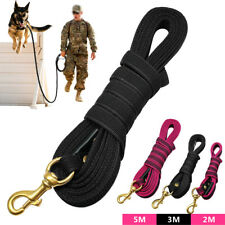 2M 3M 5M Nylon Dog Tracking Lead Strong Recall Training Obedience Lunge Leash
