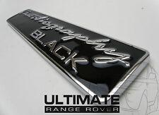 Ultimate Autobiografía Negro Range Rover Vogue Sport Trasero Negro posterior arranque Insignia