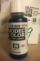 MODEL HOBBY PAINT 17ML BOTTLE VAL809 	 AV Vallejo Model Color - Royal Blue