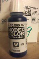 MODEL HOBBY PAINT 17ML BOTTLE VAL809  AV Vallejo Model Color - Royal Blue