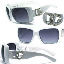 DG Women Square Oversized Eyewear Designer Sunglasses - White DG132