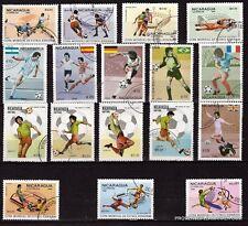 101T3 NICARAGUA 17  Timbres oblitérés: Scènes de football