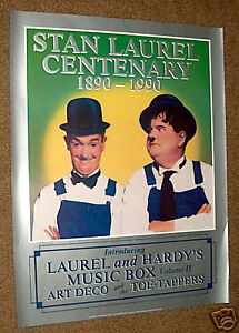 LAUREL & HARDY'S MUSIC BOX promo CD POSTER 17x22