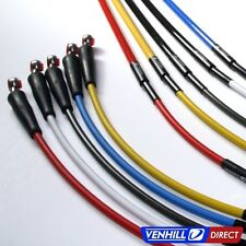 2014 Honda CRF250R Front + Rear Braided Stainless SS Brake Lines by Venhill