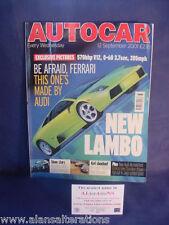 AUTOCAR Magazine 12th September 2001 Lamborgini
