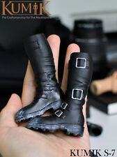 "KUMIK S-7 1/6 Female Black Shoes Boots Fit 12"" Female Action Figure Body Toys"