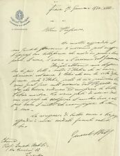 Lettera Generale Comandante XIX Firenze Fascismo Milizia Volontaria Sicurezza