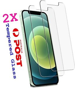 2xTempered Glass Screen Protector Apple iPhone 12 11 Pro XS Max XR 8 7 6s Plus 4