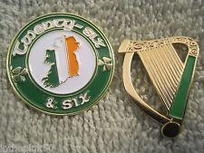 Twenty-Six & Six One Ireland Badge & Irish Harp Pin Set Of 2 St Patrick Day Pins