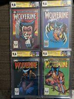 Wolverine Limited Series #1-4 CGC 9.8 & 9.6 Signed By Claremont/Rubinstein - MCU