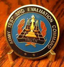 Army Test and Evaluation Command ATEC Commanding General Challenge Coin