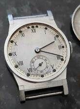 1930's Art Deco Steel Gents Wristwatch with Manual Wind Movement
