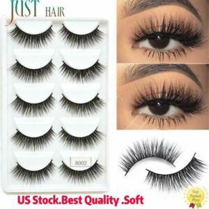 A++ 5 Pairs 3D Eyelashes Mink Lashes Mink Natural Wispy Fluffy Long Eye Lashes