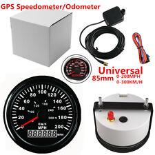 85mm GPS Speedometer Waterproof 200MPH Background Black Bezel Red LED Backlight