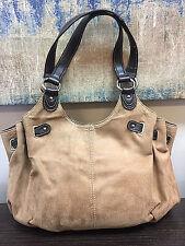 St Johns Bay Tan Suede Polyester Shoulder Bag