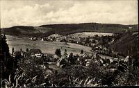 Altenfeld Thüringer Wald DDR s/w AK 1955 Panoramablick vom Königswald Panorama
