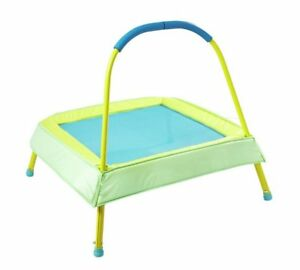 Chad Valley Kid's 2ft Indoor Trampoline - Green For Small Kids To Play