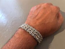 VINTAGE STERLING SILVER Bracelet BANGLE Large Italian