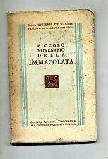 Mons.Giuseppe De Nardis # PICCOLO NOVENARIO DELLA IMMACOLATA# Soc.An.Tip.1935