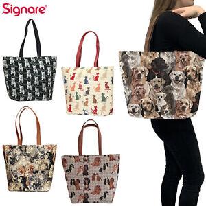 Tapestry Shoulder Handbag Tote Pet Animal Design by Signare