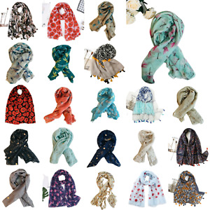 Kukubird Scarf Shawl Wrap Ladies Butterfly Flamingo Floral Flower Dragonfly P&P