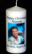 Cellini Candle Unique Cliff Richard Christmas Own Message Personalised Gift #1