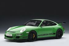 PORSCHE 911 (997) GT3 RS GREEN 1:12 by AUTOart #12118 BRAND NEW IN BOX RARE