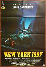 Affiche NEW YORK 1997 Escape from New York JOHN CARPENTER KURT RUSSELL 80x120cm
