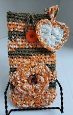 Plarn Recycled plastic Bag phone Tote Purse  Handmade Eco friendly wristlet