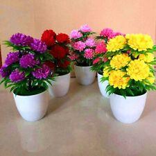 Künstlich Chrysanthemen Blumen Pflanzen Im Topf Falsche Bonsai Eingetopft Dekor