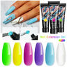 MEET ACROSS 15ml Colorful Poly Extensions Gel Nail Polish LED/UV Quick Building