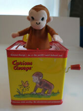 Curious George Monkey Jack In The Box Tin Metal Classic Toys Schylling
