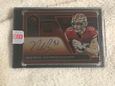 NICK BOSA 2020 ELEMENTS FOOTBALL ON CARD AUTO COPPER 14 OF 29 49ers