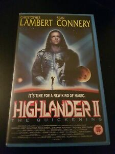 HIGHLANDER II CONNERY RARE TIMECODED PROMO VHS BIG BOX ENTERTAINMENT IN VIDEO