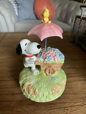Vintage Schmid Music Box: Snoopy and Woodstock #285