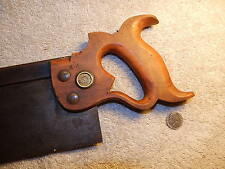 """H DISSTON & SONS blue back saw, 14"""", 13 tpi, PHILADA, straight & awesome"""