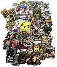50pc U.S. Military Navy Air Force Marines Army Decal Patriotic Veteran Stickers