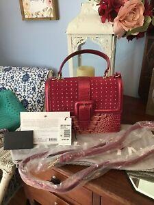 NWT Brahmin Francine Leather Bag Lotus Levan NWT $385
