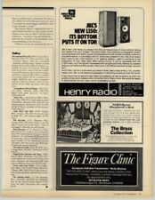 JBL L150 Henry Store - Solid Brass Collection 1979 Print Ad