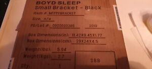 BOYD SLEEP. BLACK BRACKET SET WITH HARDWARE.#MFPPFBRACKET.NEW IN BOX.