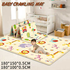 Cartoon Children Double-sided Folding Crawling Mat Baby Indoor Outdoor Play Mat.