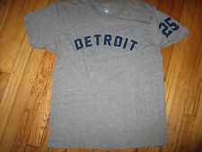 1968 DETROIT TIGERS #25 Norm Cash Road Shirt World Series Champs Tri Blend