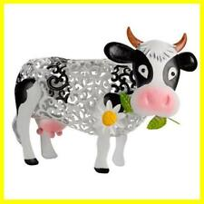 Smart Garden Solar Metal Silhouette Daisy Cow Garden Ornament Decoration 1050144