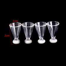 4pcs Dollhouse Miniature jus tasse vaisselle set poupée alimentaire cuisine joue