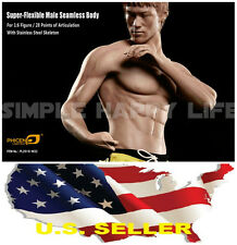 1/6 Bruce Lee Phicen PL2016-M32 Seamless Muscular Body Steel Skeleton IN STOCK
