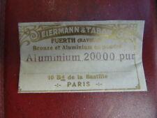 Métallisation à froid : poudre aluminium 20000 pur EIRMANN & TABOR