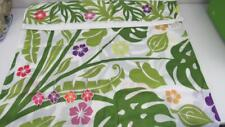 Palm Leaf W/Hibiscus Pink Purple Orange Floral Shower Curtain W/Hooks 72x72 NEW