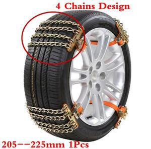 Car SUV Emergency 4-Chain Snow Anti-Skid Wheel Tire Chains Steel Anti-Slip Chain